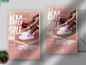 Shoes Sale Free PSD Flyer Template