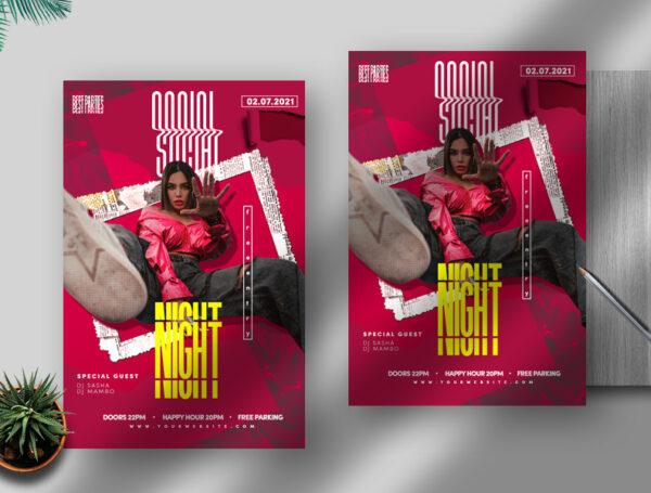 Social Night PSD Flyer Template
