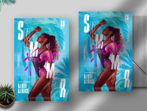Summer Fiesta PSD Flyer Template