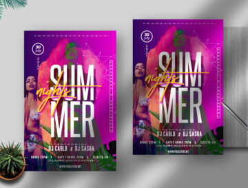 Summer Nights Free Flyer PSD Template
