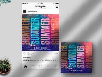 Summer Vibe Free Instagram Banner PSD