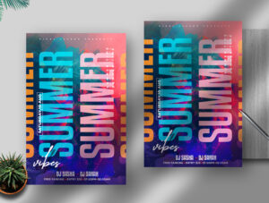 Summer Vibe Free Flyer PSD Template