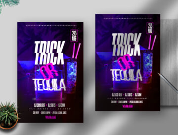 Trick or Tequila Flyer Free PSD Template