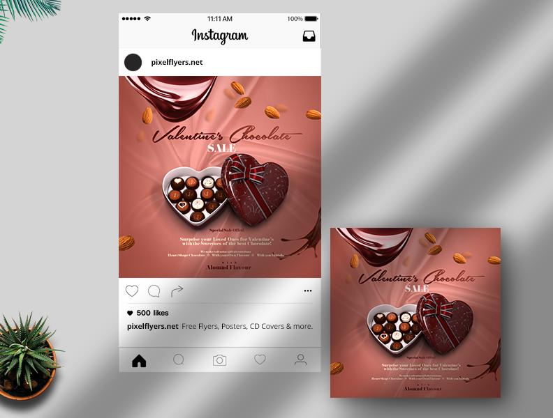 Valentine's Chocolate Sale Free Instagram Post