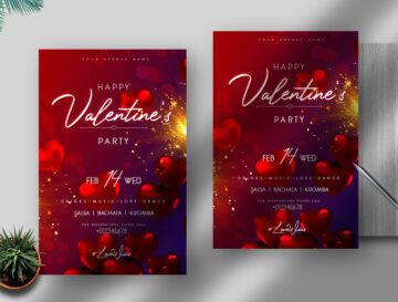 Valentine's Day Event Free PSD Flyer Template