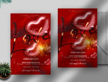 Valentine's Day Free PSD Flyer Template