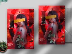 Valentine's Night PSD Flyer Template