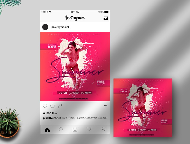 Summer Events Free PSD Instagram Template